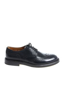 Doucal's - Scarpa Derby Brogue blu scuro