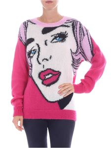 Moschino - Fuchsia pullover with inlay