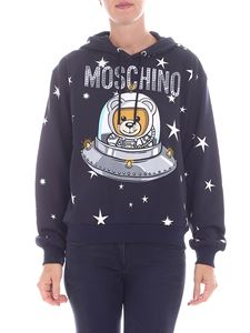 Moschino - Black hoodie with logo print