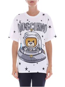 Moschino - White overfit t-shirt with logo