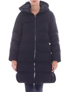 Save the duck - Black long puffed jacket