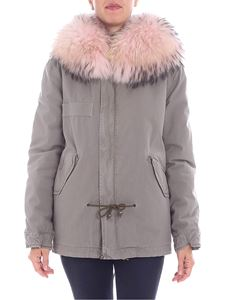 Mr&Mrs Italy - Grey parka jacket with pink fur