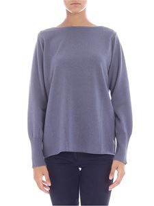 Fabiana Filippi - Light-blue pullover with beads on shoulders
