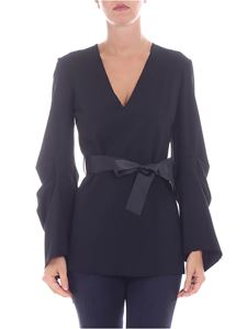 Federica Tosi - Black V-neck blouse