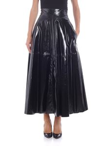 Federica Tosi - Black flared skirt with wrinkled effect