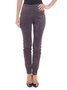 Fabiana Filippi - Dove grey trousers with suede effect
