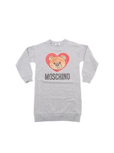 Moschino Kids - Grey dress with multicolor sequins
