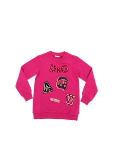 Dolce & Gabbana Jr - Cyclamen colored sweatshirt with multicolor details