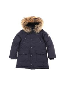 "Moncler Jr - ""Yann"" blue down jacket"