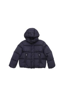 "Moncler Jr - ""Caille"" hooded blue down jacket"