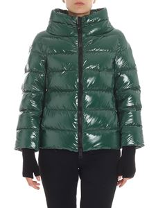 Herno - Green cowl neck down jacket