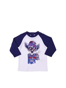 Little Marc Jacobs - Printed white and blue t-shirt