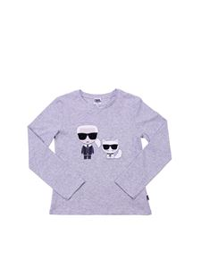 Karl Lagerfeld Kids - Karl and Choupette grey crewneck T-shirt