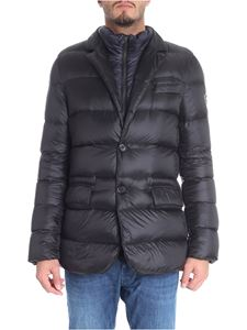Fay - Black quilted down jacket