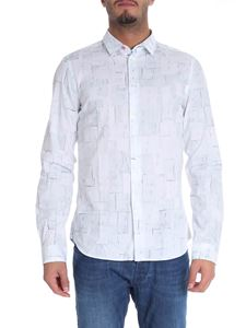 PS by Paul Smith - Camicia bianca stampa patch in tessuto
