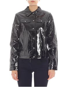 Calvin Klein Jeans - Black patent leather jacket