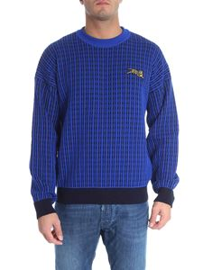 "Kenzo - ""Jumping Tiger"" black and blue sweater"