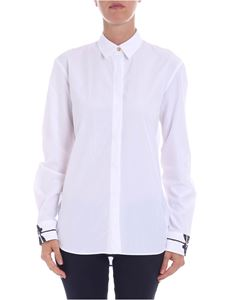 Paul Smith - White shirt with printed cuffs