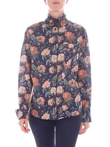 Vivienne Westwood  - Camicia blu stampa floreale