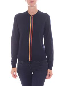 Paul Smith - Blue cardigan with multicolor detail