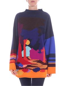 Paul Smith - Multicolor oversized pullover