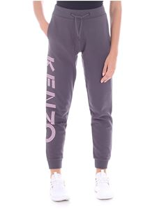 Kenzo - Grey trousers with pink print