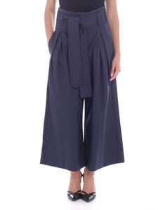Vivienne Westwood  - Blue palazzo trousers with pleats