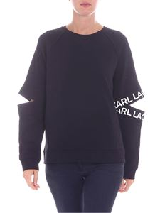 Karl Lagerfeld - Black sweatshirt with cut out