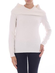 Fuzzi - White pullover with crossover