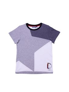 Baby Dior - White and grey crewneck T-shirt