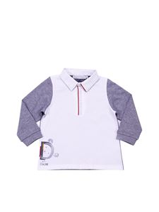 Baby Dior - Grey and white polo with stripes