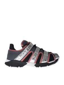 Marni - Grey and silver technical fabric sneakers