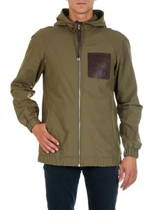 Loewe - Army green jacket with logo insert