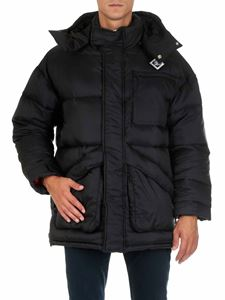 Givenchy - Black hooded down jacket with logo