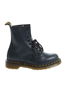 "Dr. Martens - ""1460 Smooth"" blue ankle boots"