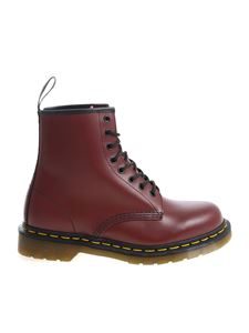 "Dr. Martens - ""1460 Smooth"" red boots"