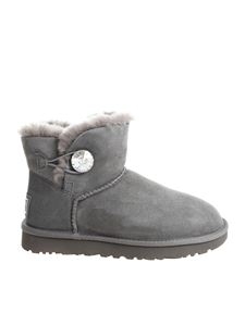 "UGG Australia - ""Mini Bailey Button Bling"" grey ankle boots"