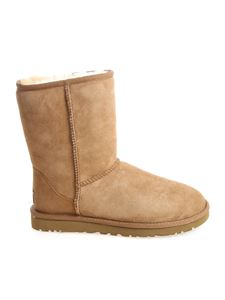 "UGG Australia - ""Classic Short"" camel-colored ankle boots"