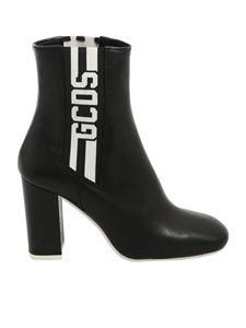 GCDS - Black ankle boots with black and white details