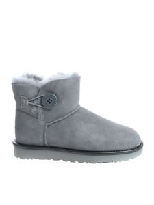 "UGG Australia - ""Mini Bailey Button II"" grey ankle boots"