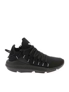 "Y-3 Yohji Yamamoto - ""Kusari"" black sneakers with braided laces"