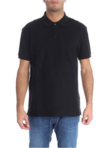 Karl Lagerfeld - Black polo with logo on the under-collar