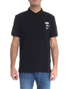 "Karl Lagerfeld - ""Ironik Karl"" black polo"