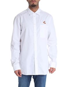 Vivienne Westwood Anglomania - Camicia bianca con tasca a toppa