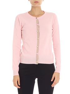 Jucca - Pink cardigan with jeweled buttons
