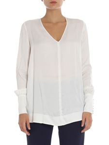 KI6? Who are you? - Blusa bianca scollo a V