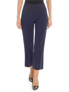 Jucca - Blue tailored pleat trousers