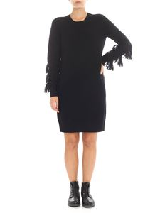 Michael Kors - Black knitted dress with fringes