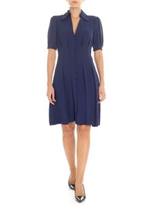 Michael Kors - Blue pleated dress with buttons