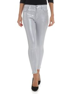 "J Brand - Iridescent silver ""835"" jeans"